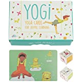 YOGi FUN Kids Yoga Cards Kit with Illustrations, Rhyming Poems, Birthday Activity and 2 DIY Dice