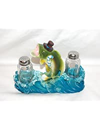 Want 3D Novelty Large Mouth Bass Salt & Pepper Shakers Table Set reviews