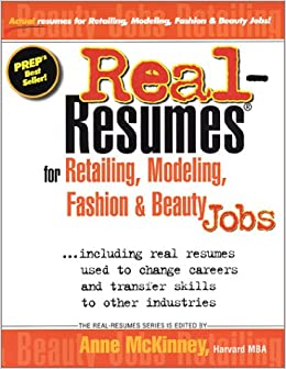 Buy Real-Resumes for Retailing, Modeling, Fashion and Beauty