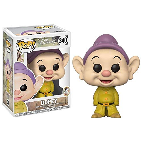 Funko Pop!- Disney Snow White-Dopey Figura de Vinilo, (21718), Modelos surtidos