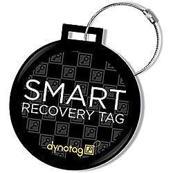 Dynotag Web Enabled Smart Dlx.Steel Luggage ID Tag+ Steel Loop w. DynoIQ & Lifetime Recovery Service