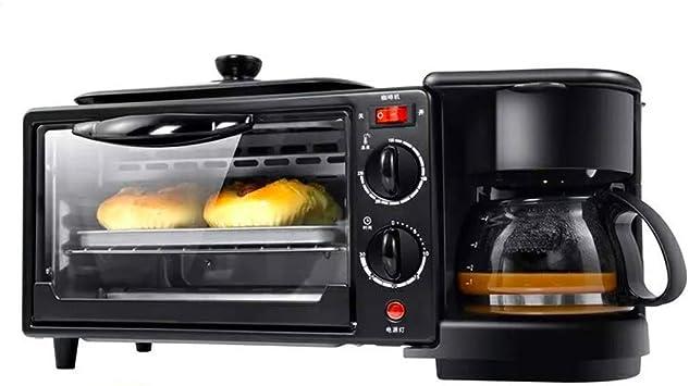 DXDCV Centro de Desayuno Multifuncional 3 en 1 (Horno Tostador, Plancha, cafetera de Varias Tazas): Amazon.es: Hogar