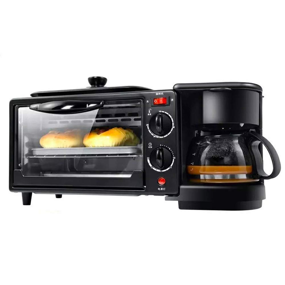 DXDCV 3-in-1 Multifunction Breakfast Hub (Toaster Oven, Griddle, Multi Cup Coffee Maker)