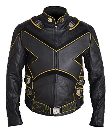 MSHC American X-Men X Wolverine Leather Jacket PS (MEDIUM) Cow Hide Black Brown - Wolverine Costumes Replica