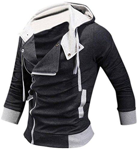 Sport Sottile Jeansian Uomini Design Casuale Darkgray Cappotto 8945 Uomo Giacca Tendenza Moda Capispalla Inverno nwUCf1Ux