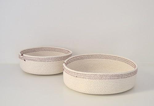 Cuencos de cuerda de algodón blanco y burdeos. ENVÍO GRATIS A ...