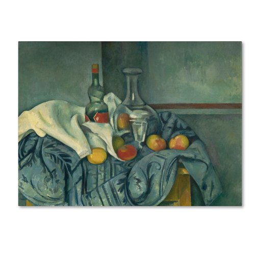 The Peppermint Bottle 1893-95 Artwork by Paul Cezanne, 18 by 24-Inch Canvas Wall Art