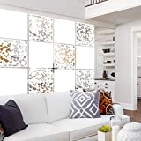 """Lchen Hanging Room Divider,12 Pieces Solid&Cut White Screen Panels Home Decoration Room Partition(Mixed,15.7""""x15.7""""x0.03"""")"""