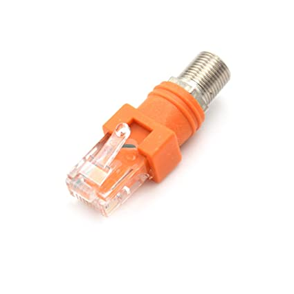 VHLL F-Type Connector RF Female To RJ45 Male Coaxial Barrel Coupler Adapter Coax Adapter