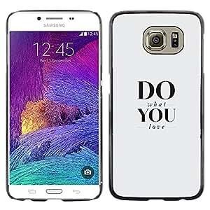 EJOY---Cubierta de la caja de protección la piel dura para el ** Samsung Galaxy S6 ** --Fa quello che ami