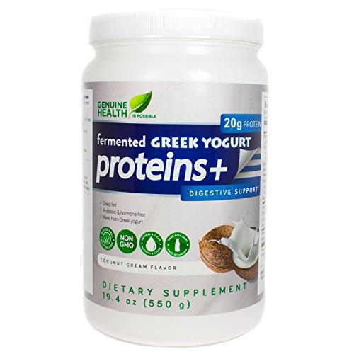 Genuine Health Fermented Greek Yogurt Proteins , Coconut Cream, 19.4 Ounces