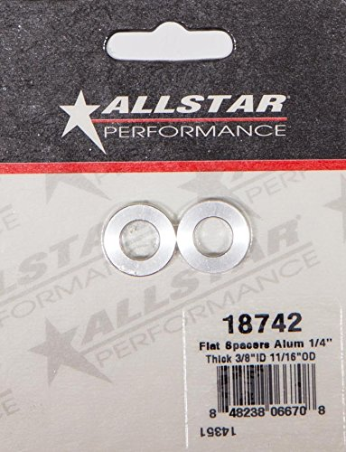 Allstar Performance ALL18742 Flat Spacer (Alum 1/4Inthick 3/8in ID (Alum Spacer)