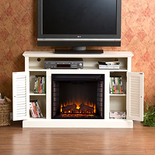 SEI Antebellum Media Console with Electric Fireplace, Antique White by Southern Enterprises (Image #8)