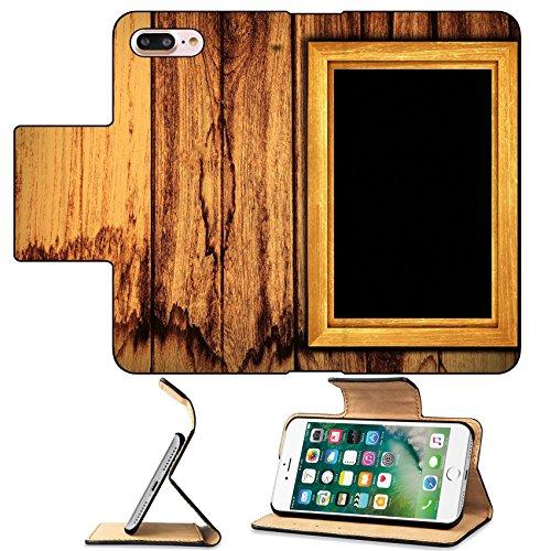 MSD Premium Apple iPhone 7 Plus Flip Pu Leather Wallet Case Vintage wooden on wood background IMAGE (Jack Wood Gallery)