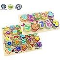 2 Pk Wooden Puzzles Alphabet Toys