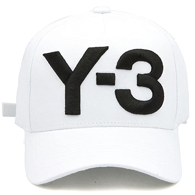 21135fb5d154d IreDi New Y-3 Dad Hat Big Bold Embroidered Logo Hip Hop Baseball Cap Black  at Amazon Men s Clothing store