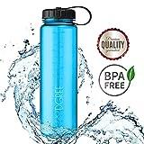 720°DGREE 'simplBottle   Leakproof Water Bottle 1litre, 1l, 1000ml, Blue   Sport Bottles - BPA Free - Tritan Plastic   Fruit Infuser Sieve   Perfect for Kids, School, Gym, Bike, Running, Outdoor