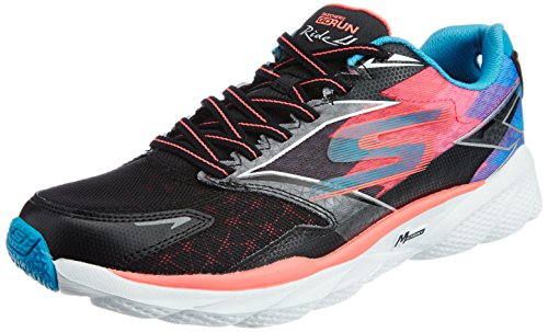 Skechers Performance Womens Go Run Ride 4 Scarpe Da Corsa Nere / Corallo