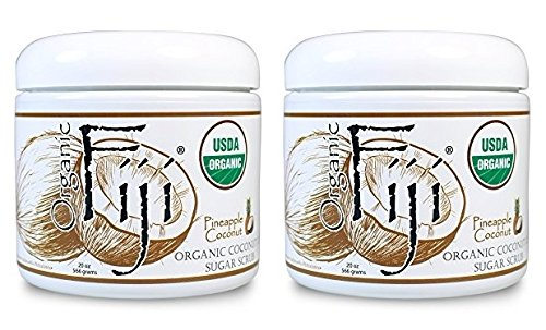 Fiji Blend Lotion - Organic Fiji Pineapple Coconut Sugar Polish (Pack of 2) With Extra Virgin Pressed Coconut Oil, Certified Organic Cane Sugar and Pineapple Coconut Blend, 20 oz. each