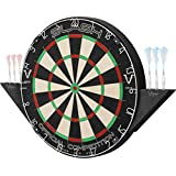 Viper Slash Official Competition Bristle Steel Tip Dartboard Set with Staple-Free Ultra-Thin Metal Wiring for Increased Scoring, Reduced Bounce Outs; Self-Healing Professional-Grade African Sisal Board, and Magnetic Dart Holders