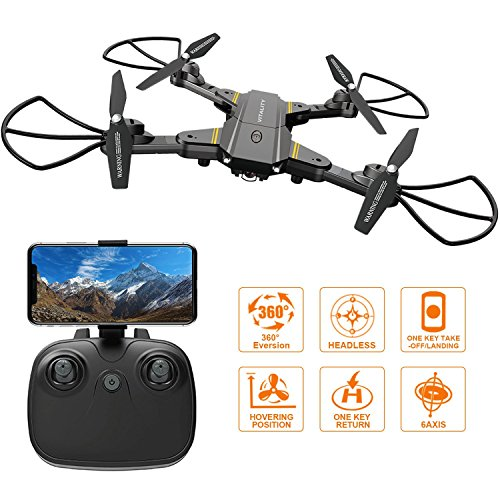 FALCORC Foldable Mini RC Drone 2.4Ghz 6-Axis Gyro Wifi FPV 720P Camera 2.4G Drone Selfie Quadcopter Remote Control Helicopter for Drone Training