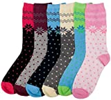 Ddi Ladies Snowflake Crew Socks 9-11 (pack Of 96)