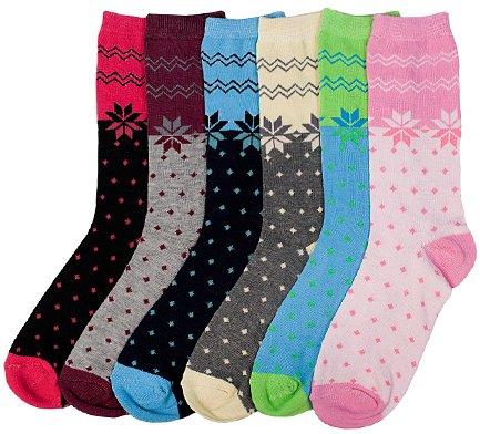 Ddi Ladies Snowflake Crew Socks 9-11 (pack Of 96)
