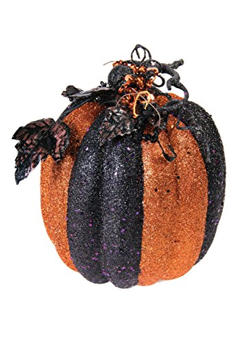 Forum Novelties Black and Orange Glitter Pumpkin ()