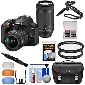 5121Dp1YATL. SS300 - Nikon D3500 Digital SLR Camera & 18-55mm VR & 70-300mm DX AF-P Lenses with Case + Tripod + Filters + Kit