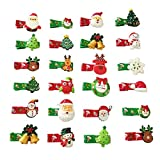 PET SHOW Pack of 20 Christmas Holiday Small Dogs Hair Clips Medium Dog Puppies Cats Topknot Headdress Grooming Hair Accessories Party Costumes
