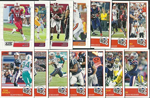 - 2019 Panini Score Football New England Patriots Team Set 14 Cards W/Drafted Rookies Super Bowl Champions Tom Brady