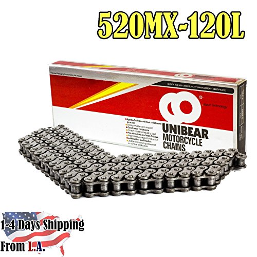 520mx Chain (520MX Professional Motorcycle Racing Chain 120 Links with 1 Connecting Link)