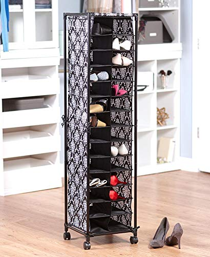 The Lakeside Collection Fashionable Shoe Storage - Damask
