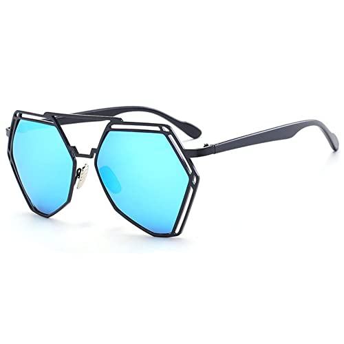 Botetrade Nuovi occhiali da sole Vintage Donne Uomini scava fuori del metallo di modo oversize Mirror Shades