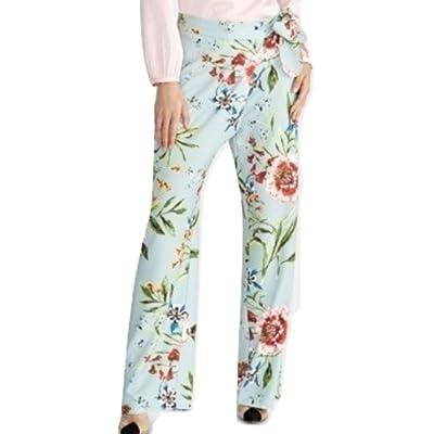 Rachel Rachel Roy Sami Floral-Print Tie Pants Blue Combo 4 at Women's Clothing store