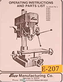 Incredible Enco 91000 40060 Drill Press Operations And Parts Caraccident5 Cool Chair Designs And Ideas Caraccident5Info