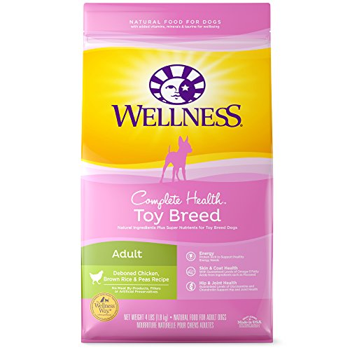 Wellness Complete Health Natural Dry Toy Breed Dog Food, Chicken & Rice, 4-Pound Bag (Best Puppy Food For Toy Breeds)