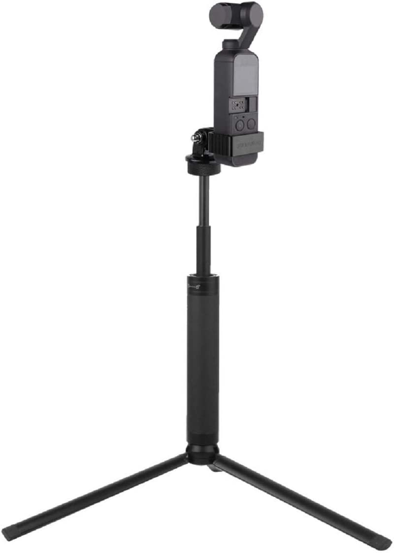 Tripod Lightweight and Compact Aluminum Alloy Bracket Stand Extension Rod for DJI OSMO Pocket Quick Release Plate for Travel and Work Cinhent Tripod Mount Adapter