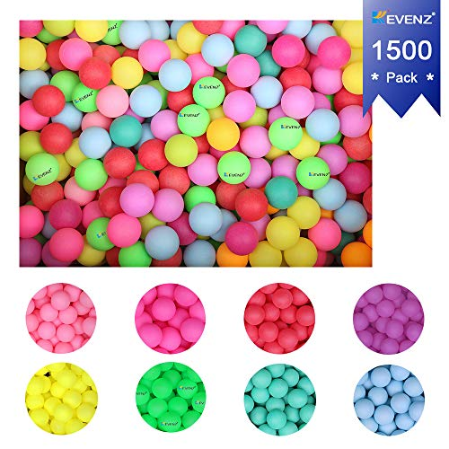 KEVENZ 1500-Pack Beer Ping Pong Balls,Assorted Color Plastic Game Table Tennis Ball by KEVENZ (Image #4)