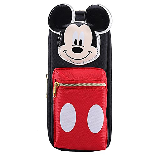 YOURNELO Cartoon Mickey Minnie Mouse Pencil Bag Pen Case Multi-Functional Pouch Zipper Bag (Mickey Mouse Desk Phone)