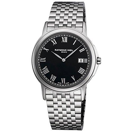 Raymond Weil Mens - Raymond Weil Tradition Black Dial Steel Mens Watch 5466-ST-00208