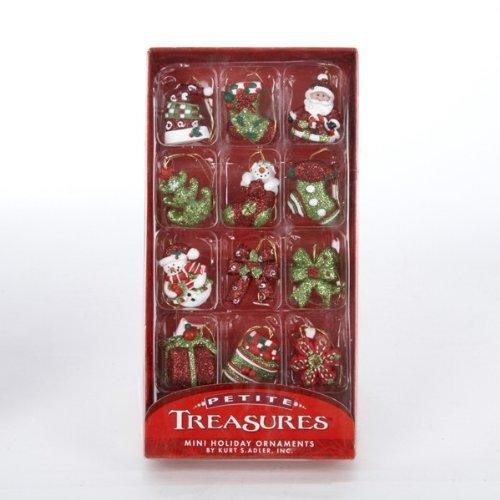 (Kurt Adler Petite Treasures Miniature Christmas Ornaments 12 Pieces)