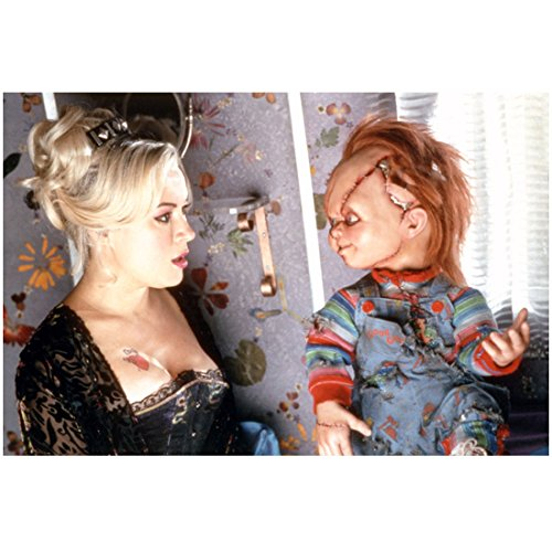 Chucky 8 inch x 10 inch Photograph Bride of Chucky (1998) Voiced by Brad Dourif Stitched Doll w/Jennifer Tilly kn