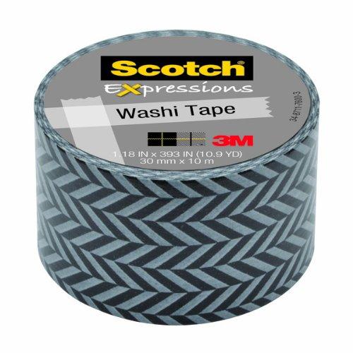 Scotch Expressions–Cinta adhesiva decorativa,, Zig Zag, 6rollos/Pack