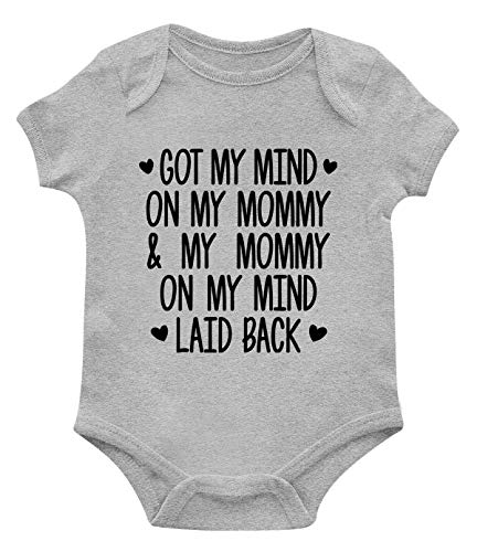 SpiritForged Apparel Got My Mind On My Mommy and My Mommy On My Mind Infant Bodysuit, Light Gray 6 - Lyrics Light Song