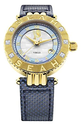 Seah-Empyrean-Zodiac-sign-Virgo-Limited-Edition-42mm-Yellow-Gold-Tone-Swiss-Made-Automatic-Diamond-watch
