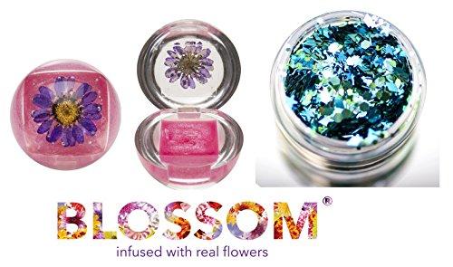 Blossom DUO Lip Gloss (with bonus Skin/Hair Glitter) (PURPLE)
