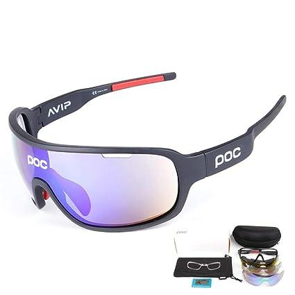Zhongsufei Gafas de Sol de conducción de los Hombres Gafas de Ciclismo POC Opcionales Espejos de