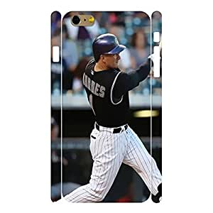 Ultra Chic Sports Series Designer Print Baseball Player Print Phone Shell Skin for Iphone 6 Plus Case - 5.5 Inch by mcsharks