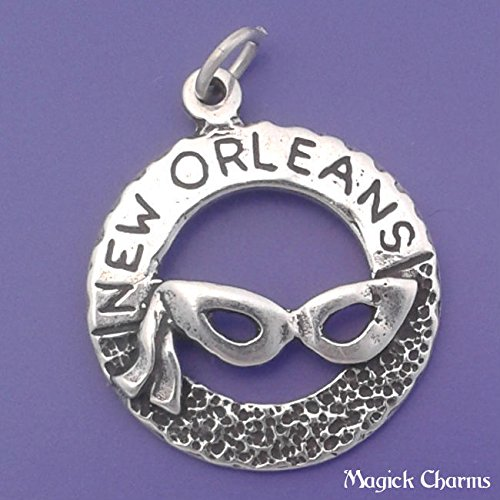 925 Sterling Silver New Orleans Mardi Gras Charm Pendant Jewelry Making Supply, Pendant, Charms, Bracelet, DIY Crafting by Wholesale Charms]()